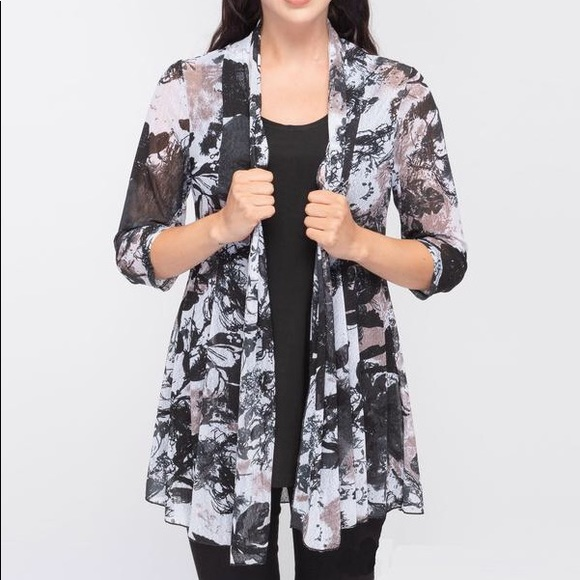 CREATION Printed Cardigan